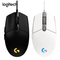 Игровая мышь Logitech G102 LIGHTSYNC, 6 кнопок, 200-8000 DPI, цветная волнистая проводная мышь, компьютерные мыши для Windows/MAC/Chrome OS