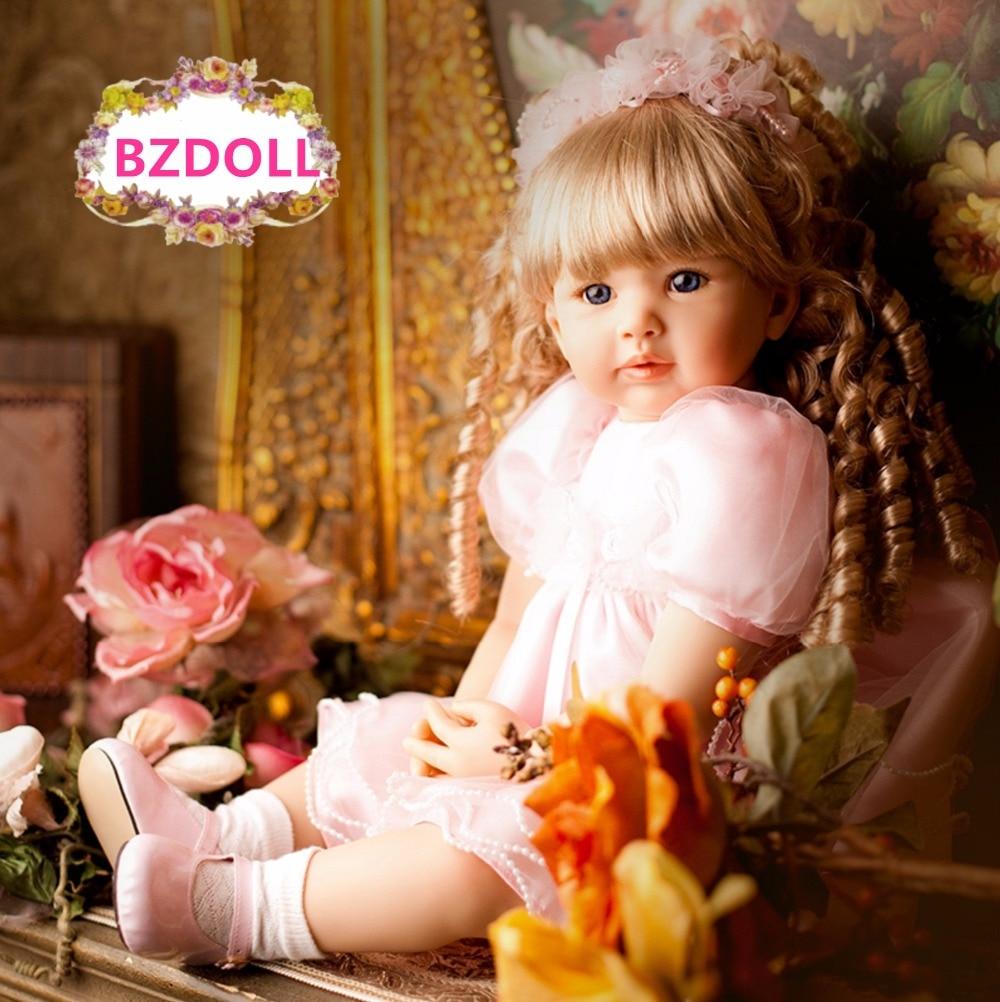 BZDOLL 24 بوصة لينة سيليكون تولد من جديد طفل على قيد الحياة الأميرة الرضع 60 سنتيمتر الفتيات تبحث الحقيقي جميل هدية عيد ميلاد