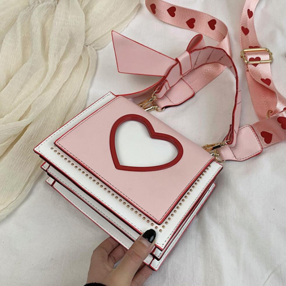 Bolso de lujo 2020 nuevo de moda de alta calidad de cuero de PU bolso de diseñador para mujer bolso de lazo bolsas de mensajero de hombro para chica dulce