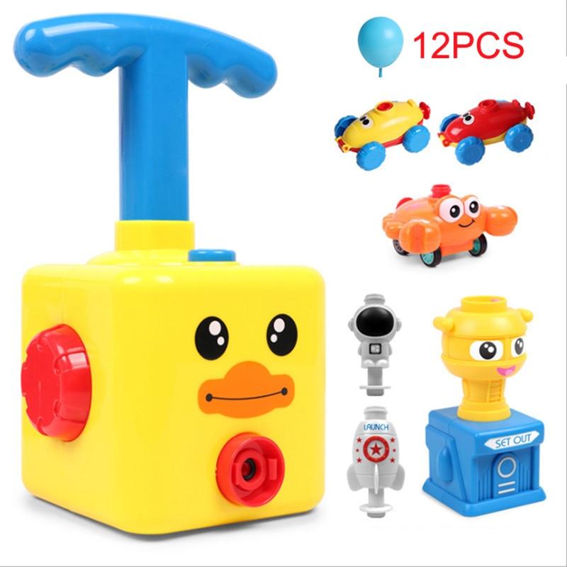 Дети воздуха инерционная Мощность автомобиль детские игрушки Запуск башня ракеты с изображением утки, лягушки модель развивающая игрушка ...