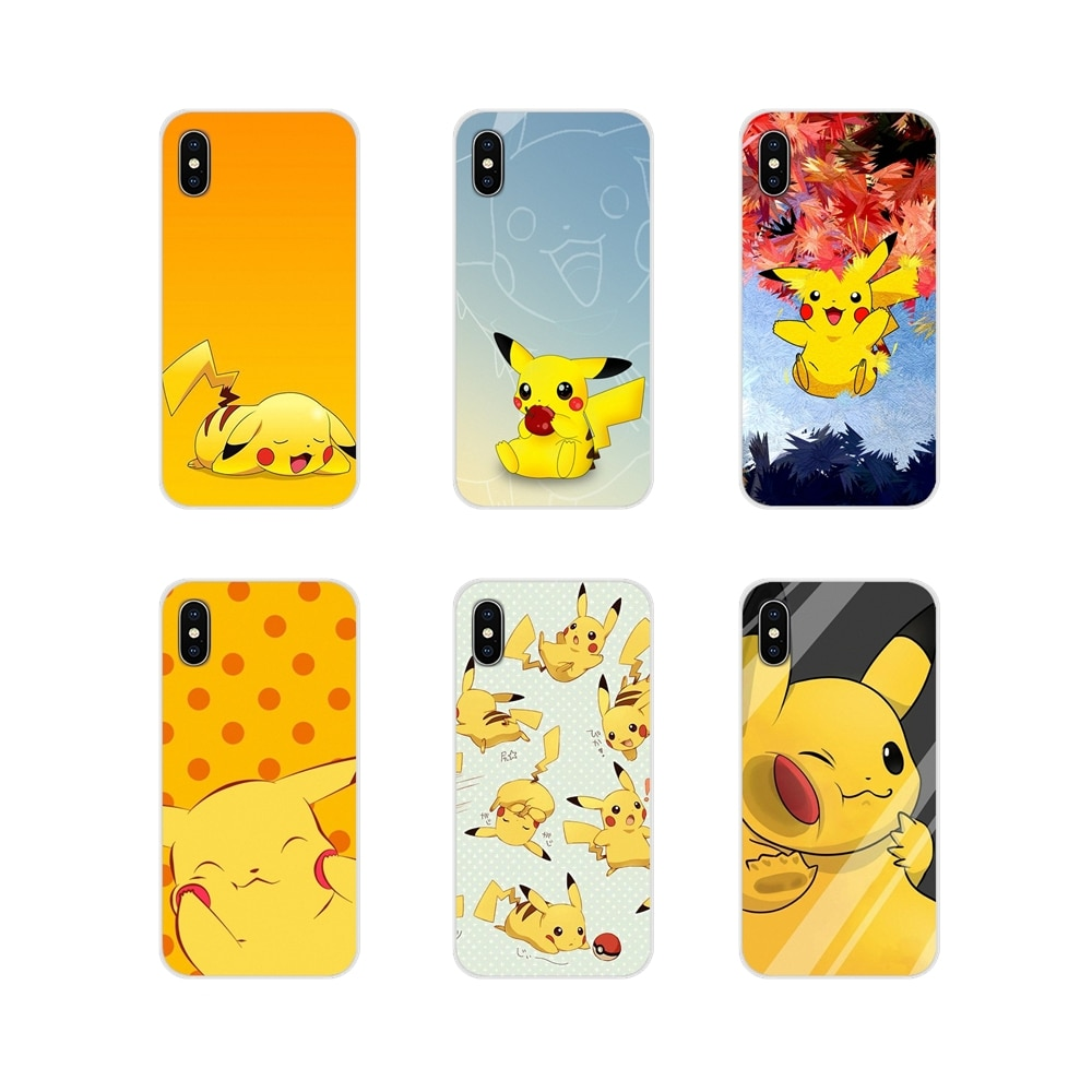 Lovely Cartoon Pikachus Soft Transparent Shell Case For Samsung Galaxy S3 S4 S5 Mini S6 S7 Edge S8 S