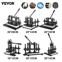 vevor manual leather cutting machine leather embossing drilling machine cutter craft embosser for cloth paper rubber handicrafts