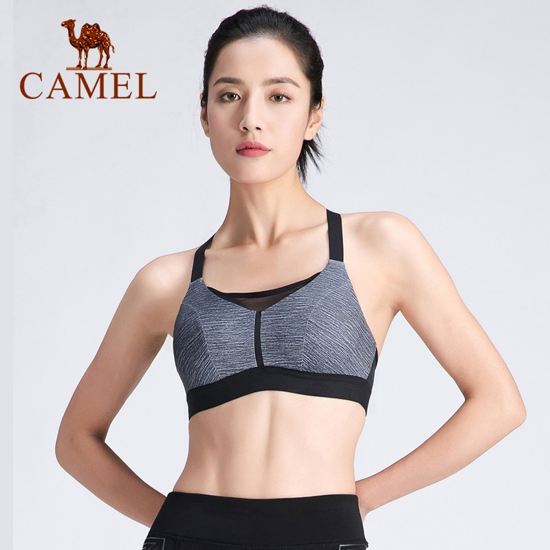 CAMEL Fashion Women's Sports Underwear Women Yoga Fitness Vest Running Clothes Female Breathable Bra Vest