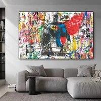 Peinture sur toile abstraite avec Graffiti de rue  affiches et imprimes dart mural pour enfants  decoration de chambre a coucher moderne