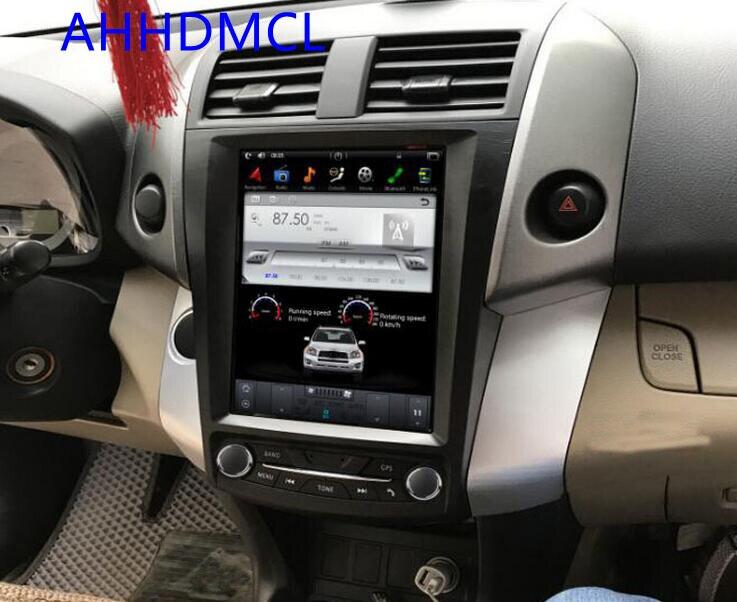 Reproductor Multimedia de estilo Tesla Android estéreo para coche GPS PC PAD para coche Rav4 Auto AC 2005 2006 2007 2008 2009 2010 2011 2012