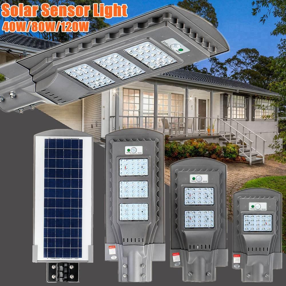 AUGIENB 21000LM 40 W/80 W/120 W Luz de calle Solar 20/40/60 LED iluminación exterior lámpara de seguridad Sensor de movimiento/IPX6