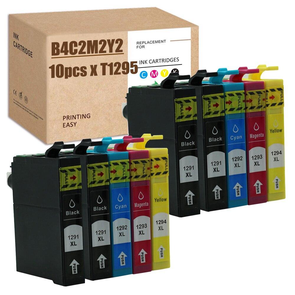 SZ 10 шт. совместимый T1291 T1292 T1293 T1294 T1295 переработанного чернильного картриджа для SX235W SX420 SX420W SX425 SX425W WF-3010DW WF-3520 WF-3520