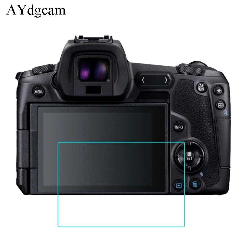 2 uds., funda protectora de pantalla antimotín 9H, película protectora de pantalla de vidrio templado para Canon EOS R SX730 3000D 4000D