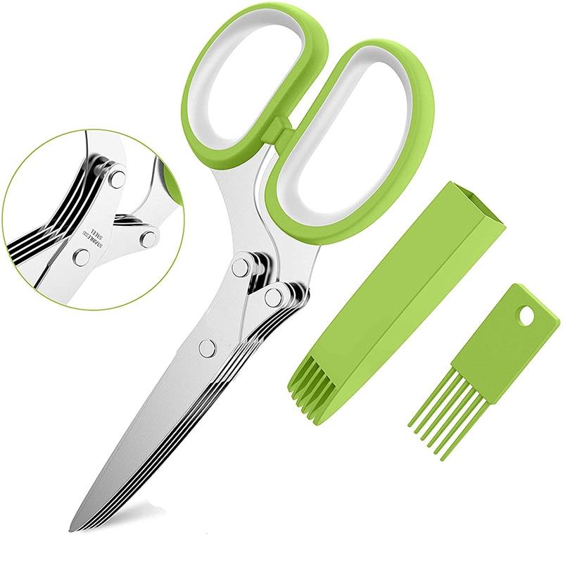 Многофункциональные кухонные ножи MAIYUE, ножи из нержавеющей стали, измельченный резак для розмарина, скальона, инструмент для измельчения т...