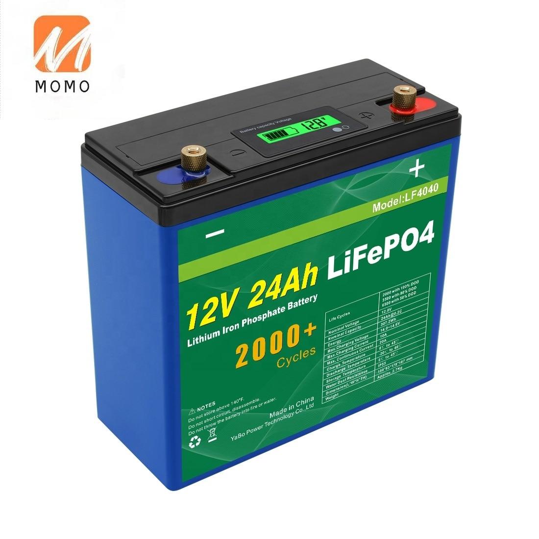 سريع الشحن ليثيوم الحديد الفوسفات Lifepo4 بطارية حزمة 48 فولت 12 فولت 24Ah بطارية أيون الليثيوم لأنظمة تخزين الطاقة الشمسية