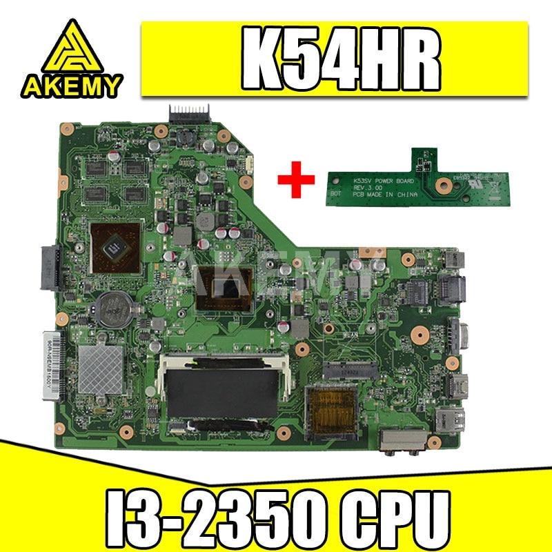 K54HR I3-2350 وحدة المعالجة المركزية على متن اللوحة لابتوب X54H X54HR مع REV 3.0 HD 74700 اختبار جيدا و اللوحة S-6