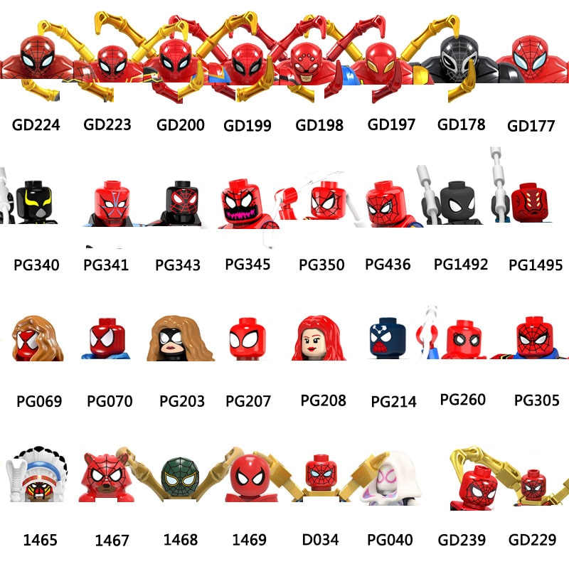 AliExpress - GD229 GD239 D034 1468 PG1492 PG343 1465 1467 Action Figure Heads MOC Building Blocks Bricks Educational Toys For Children Gifts