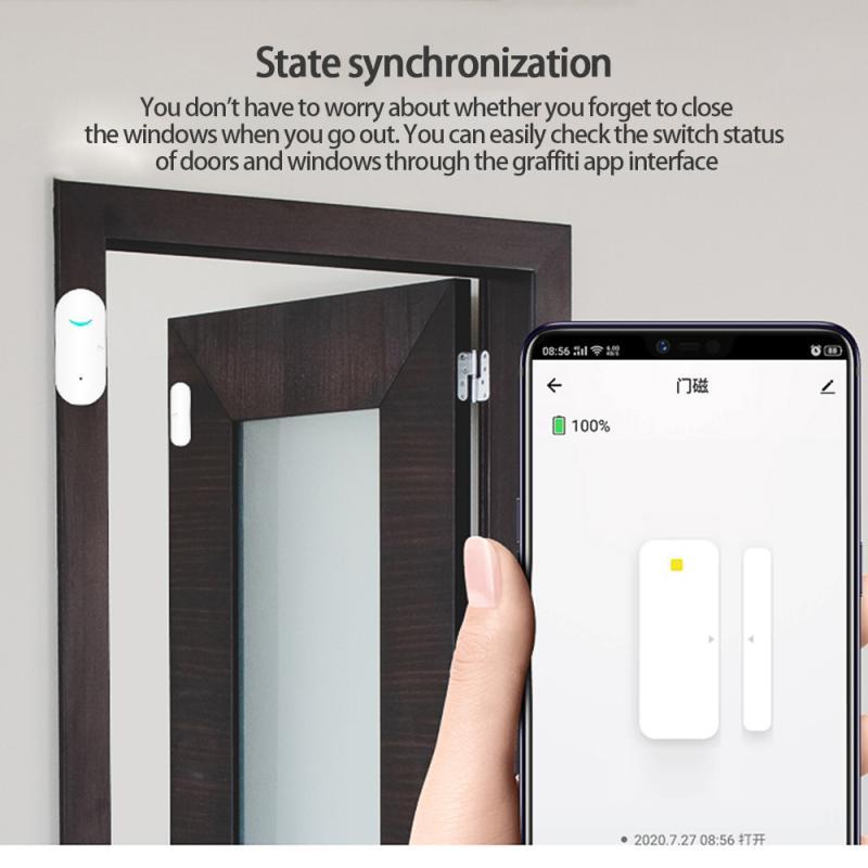 Tuya     capteur douverture de porte et fenetre intelligent Zigbee  capteur douverture de porte magnetique pour maison