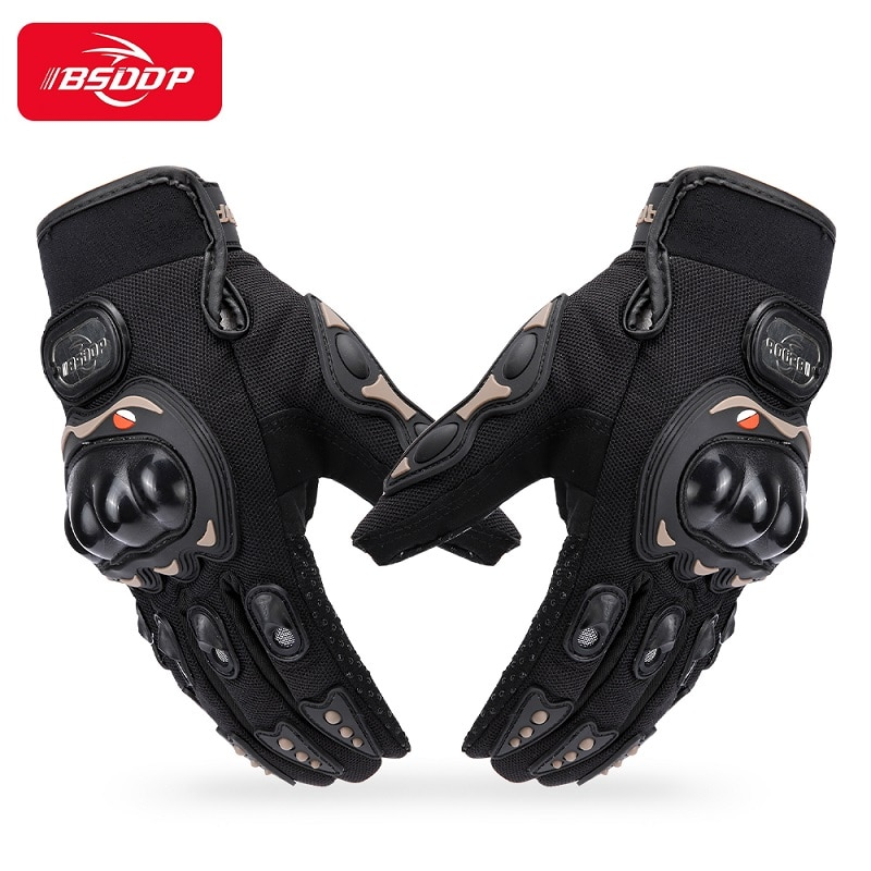 free shipping newest rs 390 full skin perforated carbon fiber glove motorcycle racing gloves full finger 3 size 3 color BSDDP Motorcycle Gloves Outdoor Guantes Man's Motocross Breathable Full Finger Racing Motorbike Bicycle Glove Protective Gears