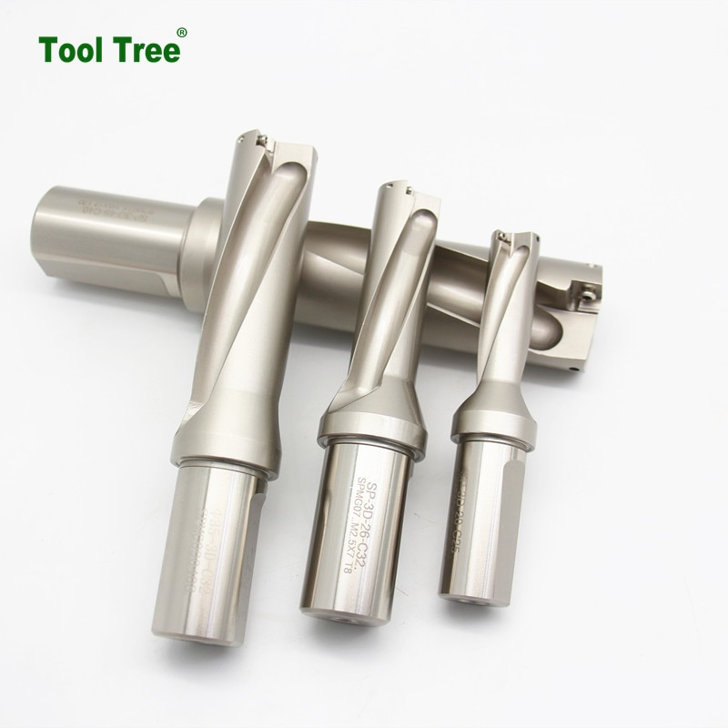 Machine tools High Speed cutting tools U drill cutter SP WC type U drill for CNC Center drilling enlarge
