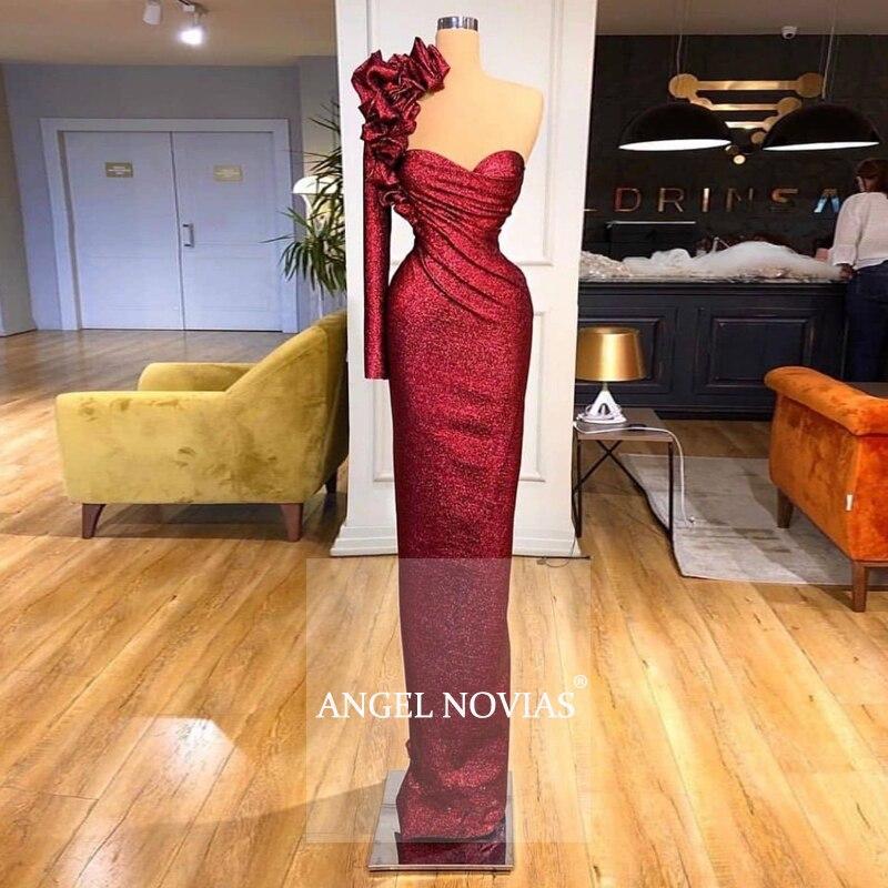 Vestido de noche de manga larga Para Mujer, caftán Dubái de Burdeos...
