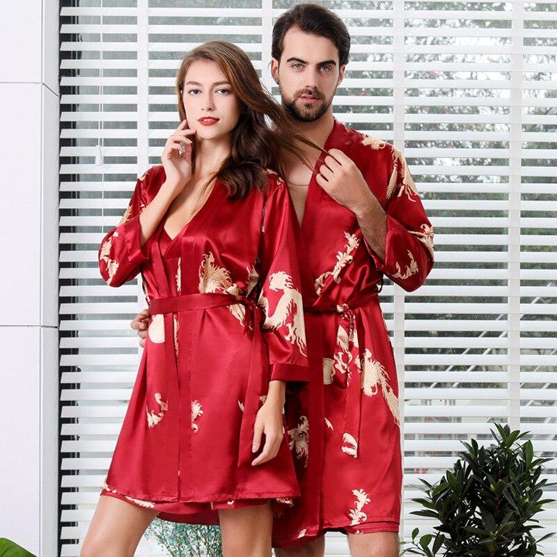 5XL 4XL кимоно Для мужчин из двух частей оверсайз Для мужчин сексуальный халат, женская одежда для сна Для мужчин, одежда для сна, комплекты для ...