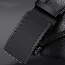 automatic buckle fashion waist male  Good mens belt luxury high quality cow genuine leather for men Automatic Buckle 2021 New