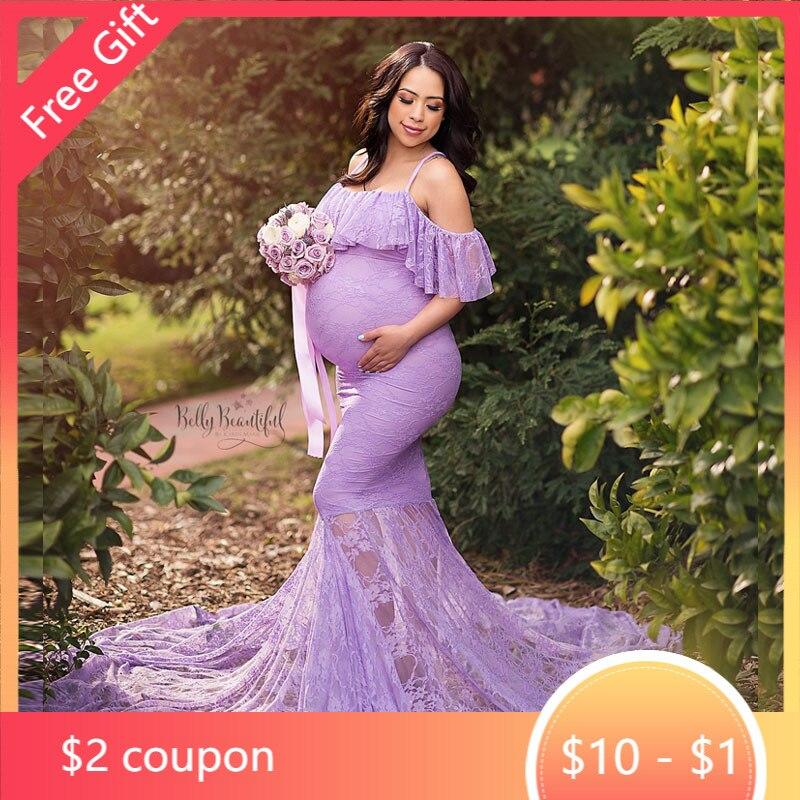 Кружевное платье рыбий хвост для беременных Платья для фотосъемки для беременных реквизит для фотосъемки для беременных Одежда для береме...