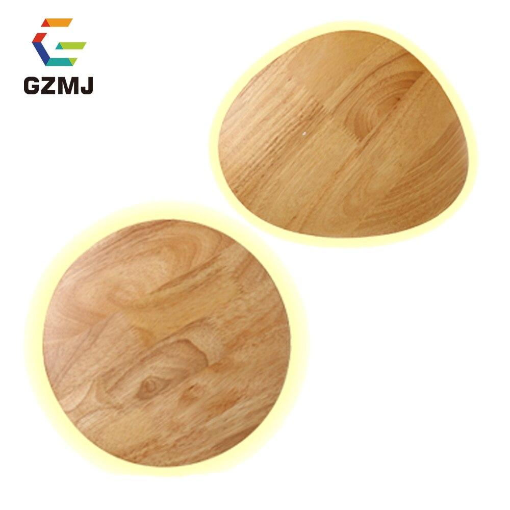 GZMJ современный светодиодный круглый деревянный настенный светильник, Северная Европа, оригинальный настенный светильник для спальни, прик...