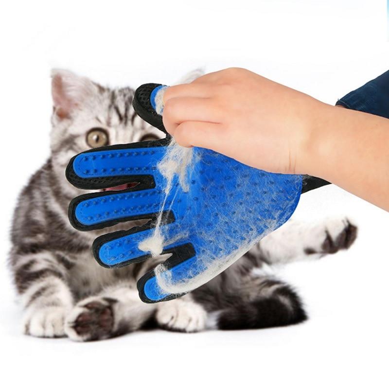 Guante de lavado para el cuidado de la ducha de Gato, cepillo para quitar el pelo del perro, cepillo para quitar el pelo del gatito, cachorro, limpiador de animales, masaje de limpieza para los dedos