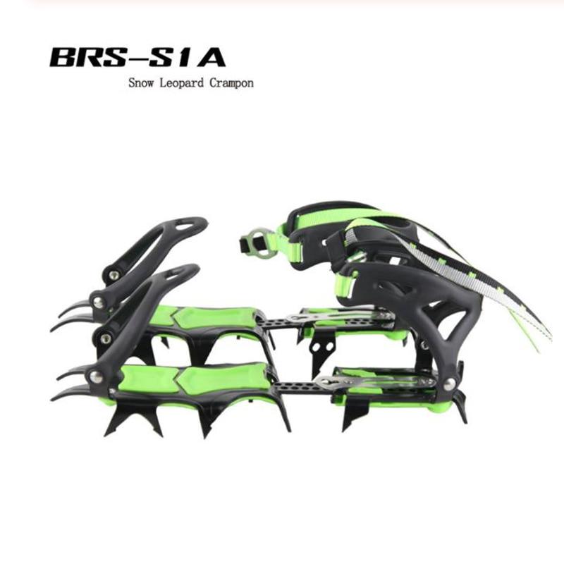 BRS-14 حذاء مسطح خفيف الوزن للغاية ، غطاء غير قابل للانزلاق ، مقابض ثلجية خارجية للتزلج على الجليد والمشي لمسافات طويلة والتسلق
