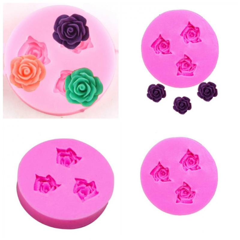 1pcs  Mold Cake Decorating Fondant Impression Flower Sugarcraft