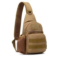 military tactical sling bag men outdoor hiking camping shoulder bag army hunting fishing trekking chest sling molle backpack