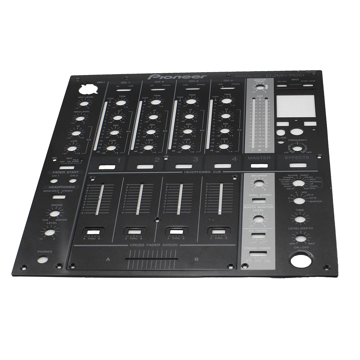 DJM-700 Painel De Controle De Metal Faceplate Preto ForPioner DNB1153 DNB1155