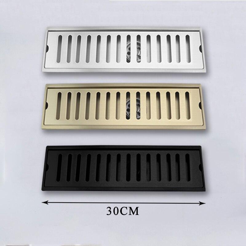 مصرف ماء الطابق مع غطاء قابل للإزالة نحى 304 الفولاذ المقاوم للصدأ 30 سنتيمتر/60 سنتيمتر طويلة للحمام المطبخ في الهواء الطلق