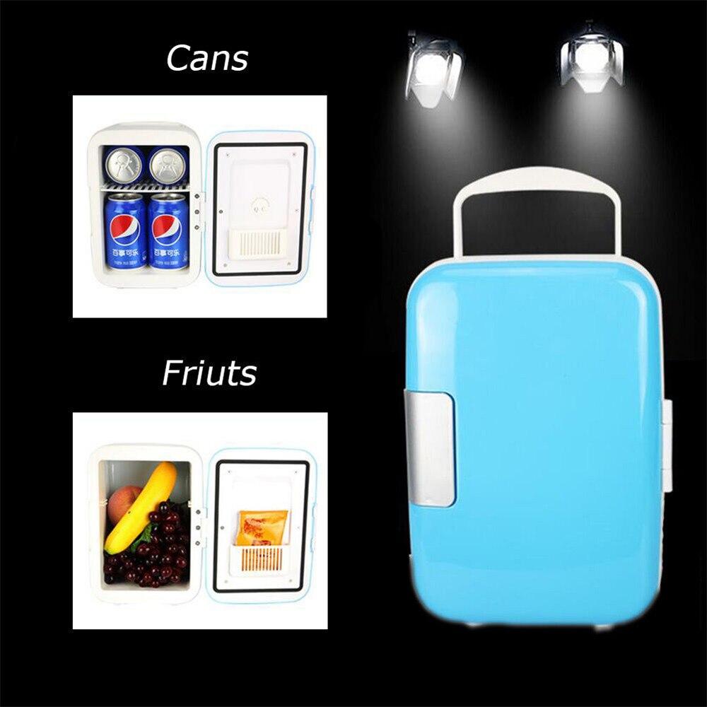 2020 Nuovo 4 L Frigo Dispositivo di Raffreddamento & Scaldino Elettrico AC/DC Per Il Riscaldamento, famiglia di Refrigerazione Di Raffreddamento Armadio Di Stoccaggio Congelatore