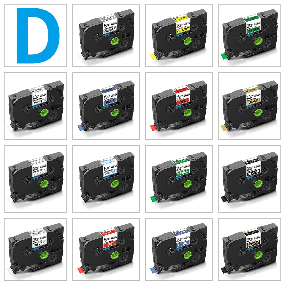Topcolor 6mm 9mm 12mm Compatible D1 Tape Dymo Label Tape 45013 45010 40913 43610 for Dymo Label Manager LM160 280 Label Maker недорого