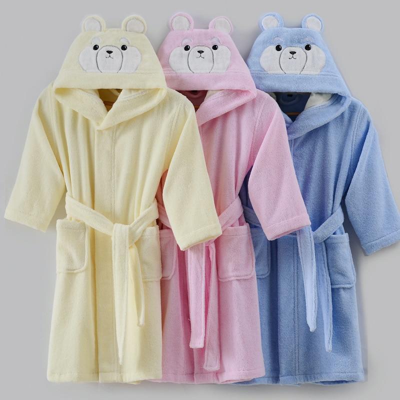 criancas roupao de algodao terry toweling robe criancas dos desenhos animados menino