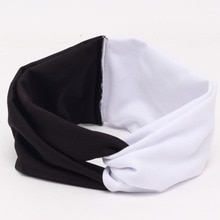 Beautiful and cute elastic contrast color or color matching wide-brimmed headband , ladies cross hai