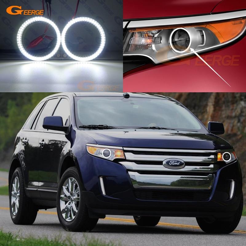 Para Ford Edge 2011 2012 2013 2014 excelente smd kit de luces led Ojos de Ángel día luz Ultra brillante DRL iluminación