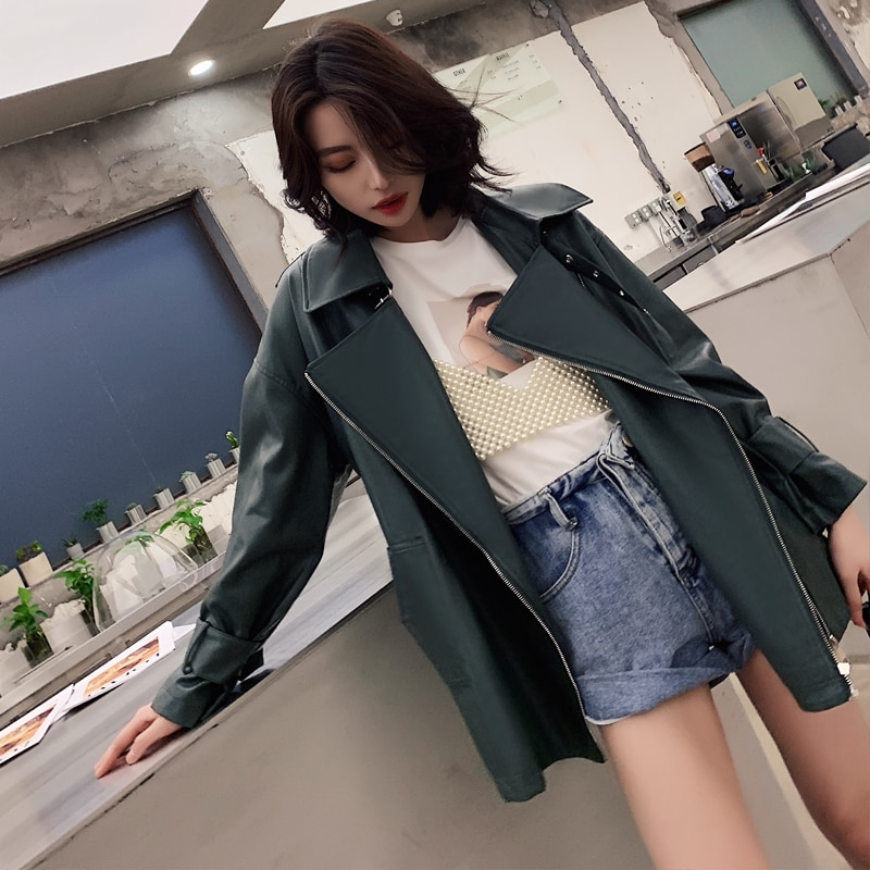 2021 New Arrival Spring Autumn Soft PU Leather Jackets Women Fashion High Quality Leather Coats Women Streetwear Ladies Parkas enlarge