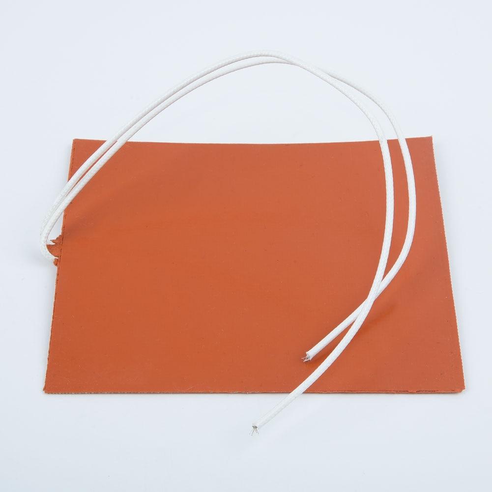 12v dc 12w 100*120mm silicone laranja aquecedor almofada flexível à prova d3d água para impressora 3d cama aquecida esteira de aquecimento