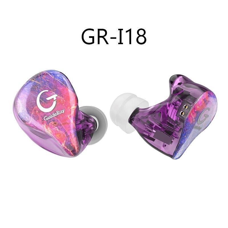 Auriculares híbridos GuideRay 1BA + 1DD potentes auriculares estéreo Monitor HIFI auriculares deportivos KZ ZSN PRO BLON BL05 BL03