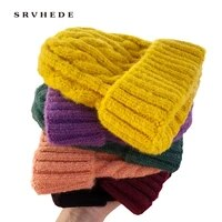 women beanies girl luxury winter hat candy colors hats thick warm bonnet beanie soft knitted beanies cotton twist pattern caps 9