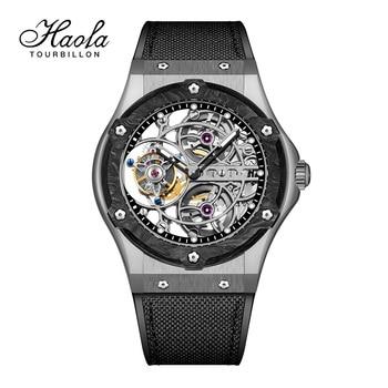 Haofa Skeleton Tourbillon Movement Mechanical Watches Mens 2021 Manual Tourbillon Sapphire Watch For Men Luxury zegarek męski