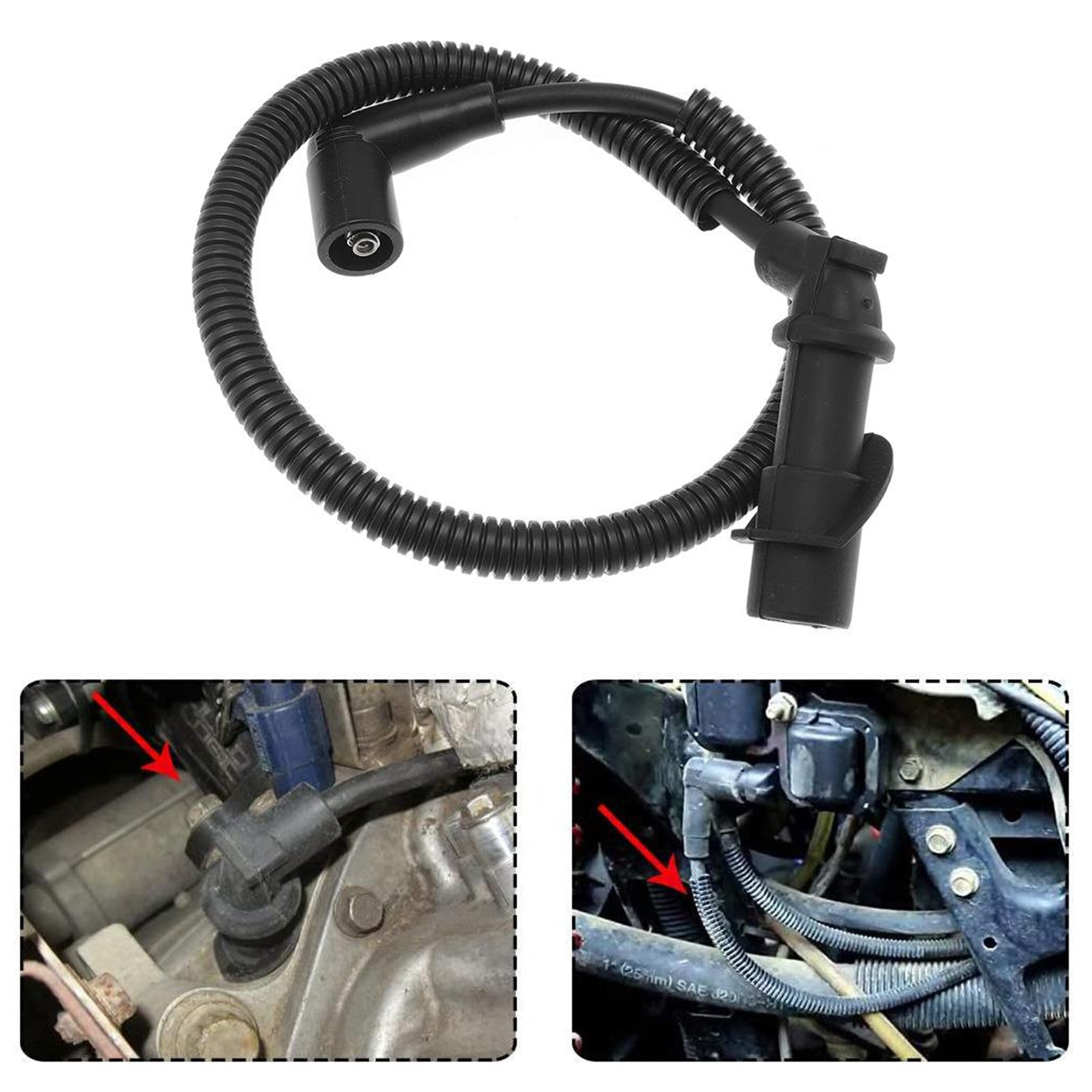 2Pcs Spark Plug Ignition Coil Wires for Polaris Ranger Crew 700 2009 High quality Simple Installation onesimus ignition cable set oem 90919 21557 high quality spark plug wire set for toyota