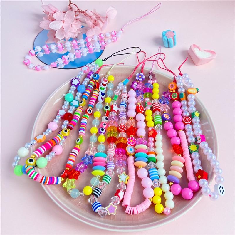 Модные-Разноцветные-Акриловые-бусины-мобильный-телефон-с-цепочкой-для-женщин-и-девочек-мобильный-телефон-ремень-анти-потерянный-ремешок-п