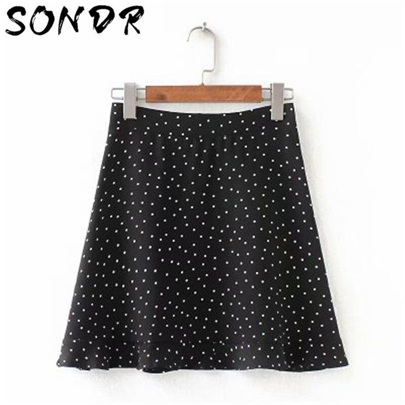 Playa boho sexy mini falda de cintura alta Aline falda para mujeres ropa Casual señoras Streetwear falda de verano Mujer Saias femeninas