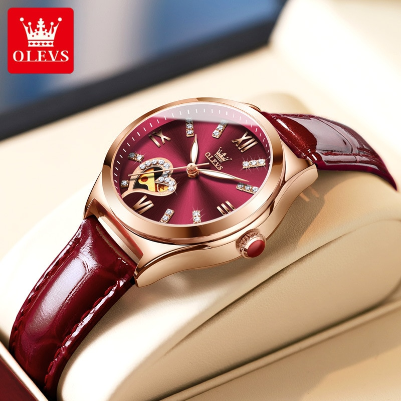 Watch mechanical watch hot sale genuine leather waterproof ladies watch women enlarge