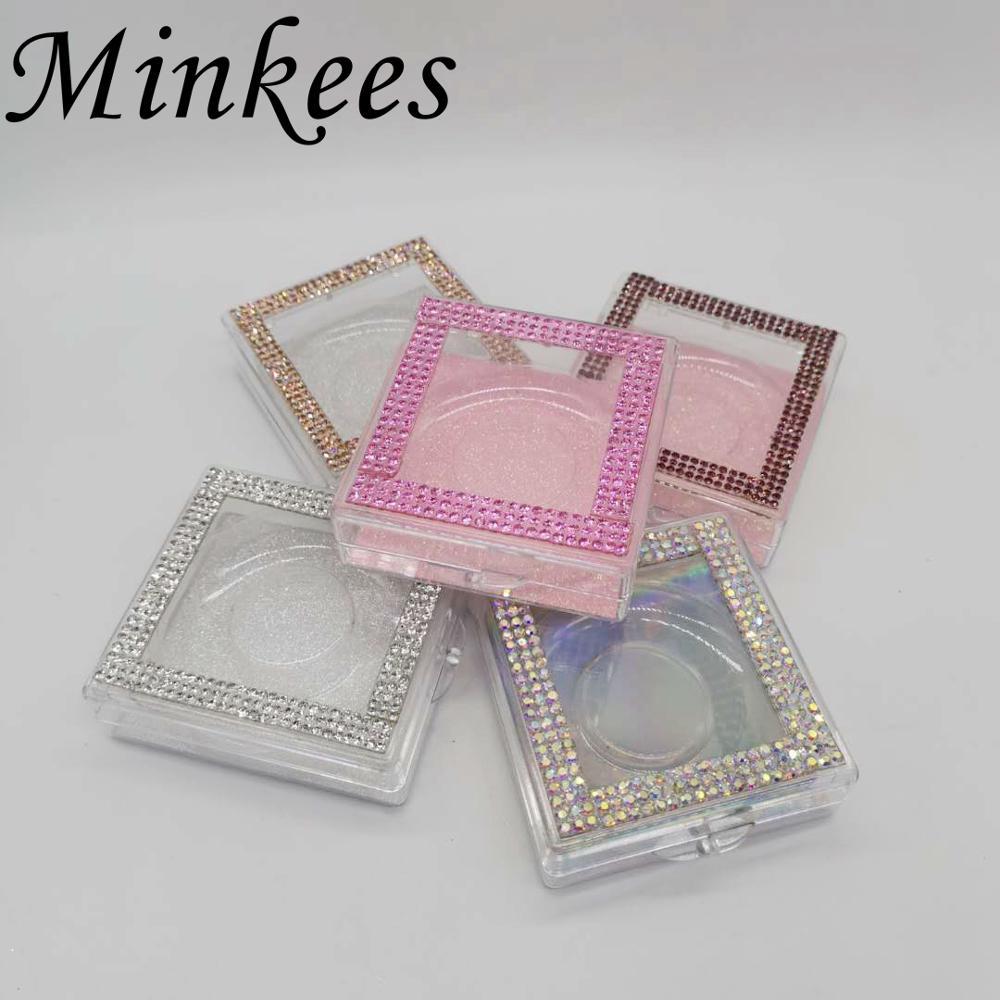 Minkees оптовая продажа стразы накладные ресницы упаковочная коробка норковые ресницы пустая коробка для 3D 5D ресниц
