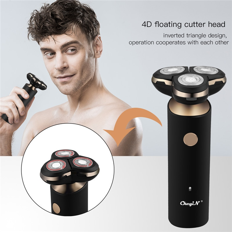 2 in 1 Men's 4D Electric Shaver portable USB Charging Beard trimmer Washable 3 Blades Add Nose Hair Trimmer For Adult Razor enlarge