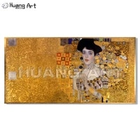 famous gustav klimt figure oil painting on canvas hand painted high quality portrait art for room wall decor imitation painting