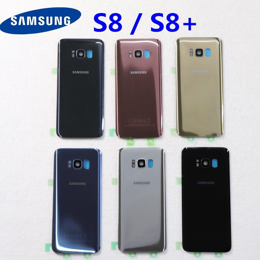 Samsung задняя Батарея Крышка для samsung Galaxy S8 G950 SM-G950F G950FD S8 плюс S8 + G955 SM-G955F G955FD сзади Стекло чехол