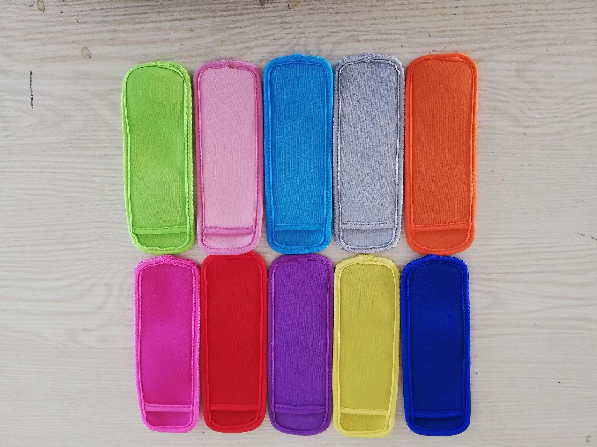 Dhl/fedex envio pacote borda grande 500 pçs neoprene gelo picolé manga pop suportes, gelo lolly, bloco de gelo
