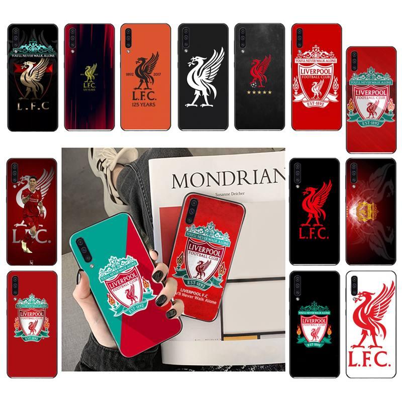 YJYDNHBD Liverpool FC funda de teléfono de lujo para Samsung Galaxy A7 A50 51 A70 80 A40 A20 A30 A8 A6 A8 más A9 A71